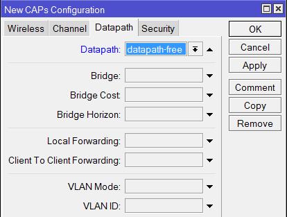 Выбор профиля Datapath для гостевой сети в MikroTik CapsMan