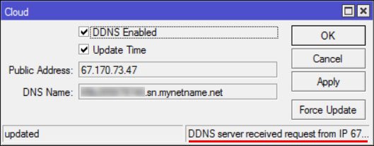 имеется роутер MikroTik с белым IP-адресом