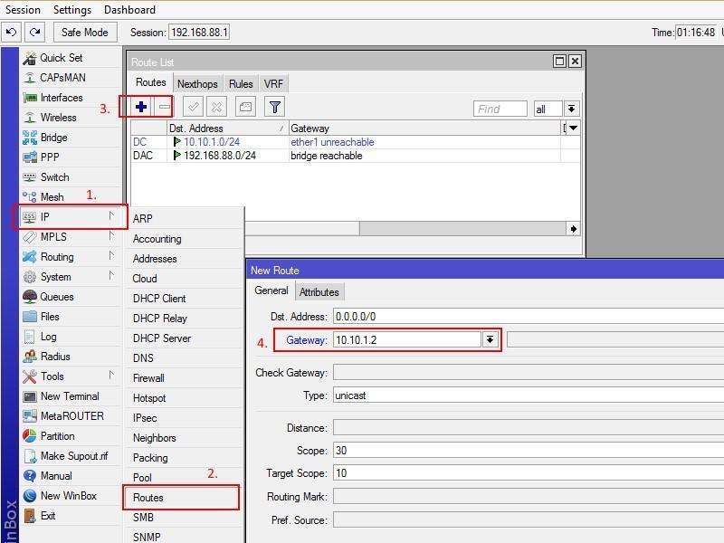 Ручное назначение IP параметров Микротик rb951gм3