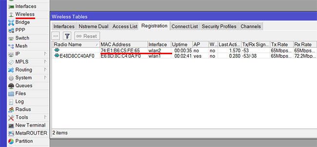 Проверка работы Wi-Fi репитера MikroTik