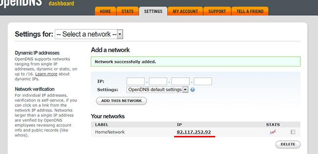 Переходим в настройки своей сети в OpenDNS