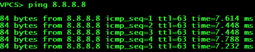 Проверка доступности на PC1