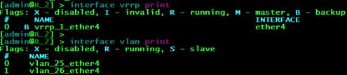 Статусы интерфейсов на маршрутизаторе R2