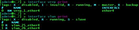 Состояние интерфейсов на маршрутизаторе R2