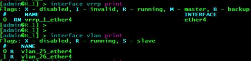 Статусы интерфейсов на маршрутизаторе R1