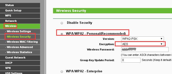 Wireless (Настройки беспроводного режима)