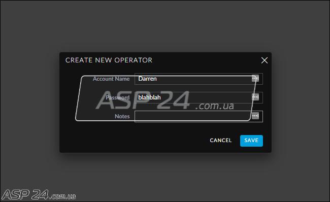 Рис. 9. Create New Operator.