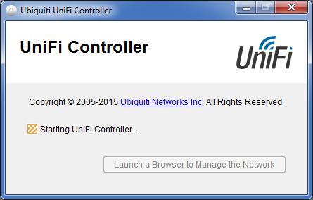 UniFi Controller инициализация программы