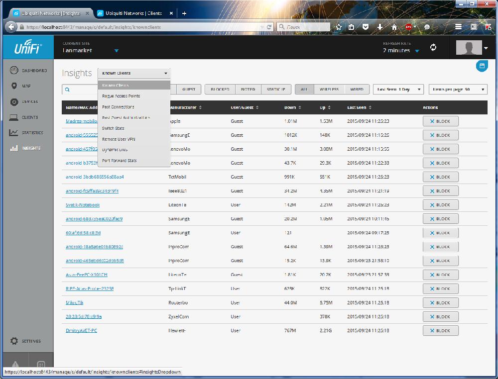 UniFi Controller отчеты, дополнительная информация о клиентах