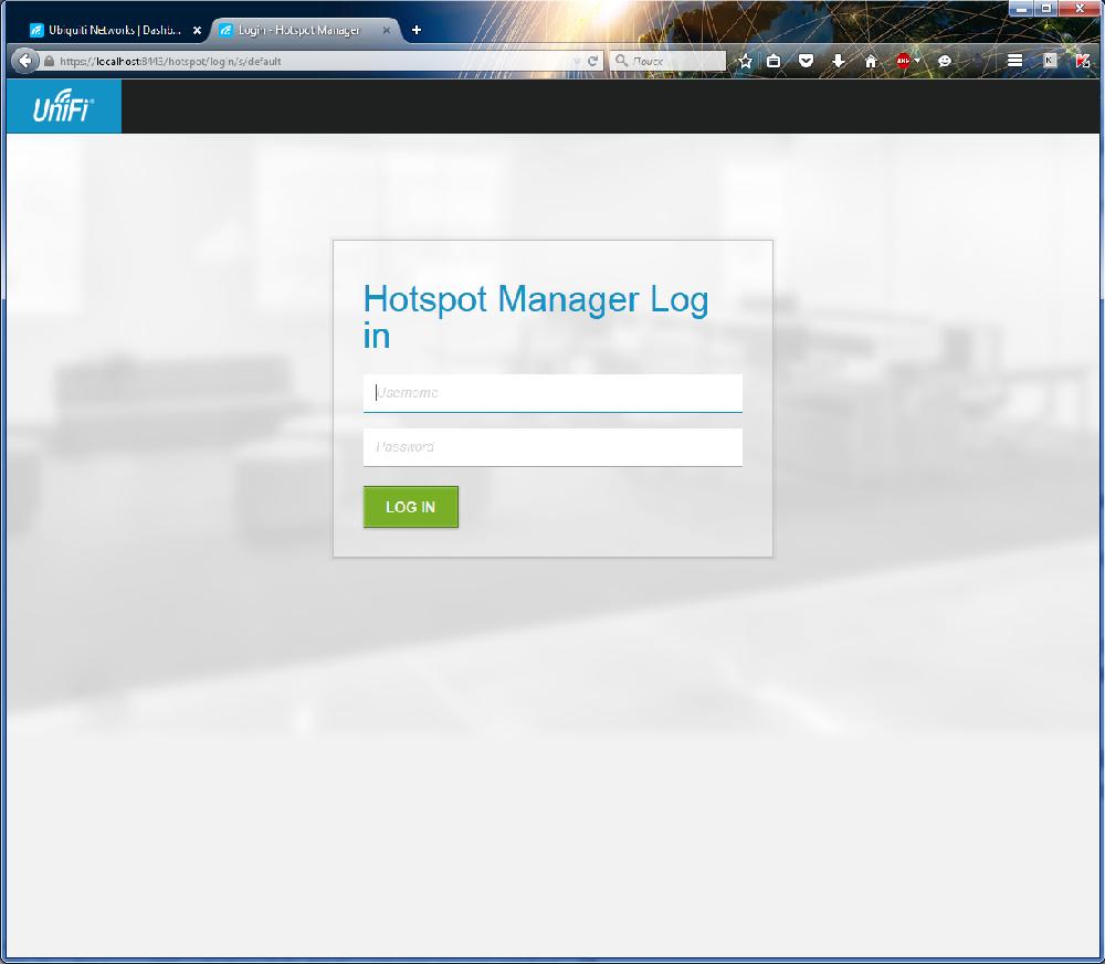 UniFi Controller панель управления HotSpot