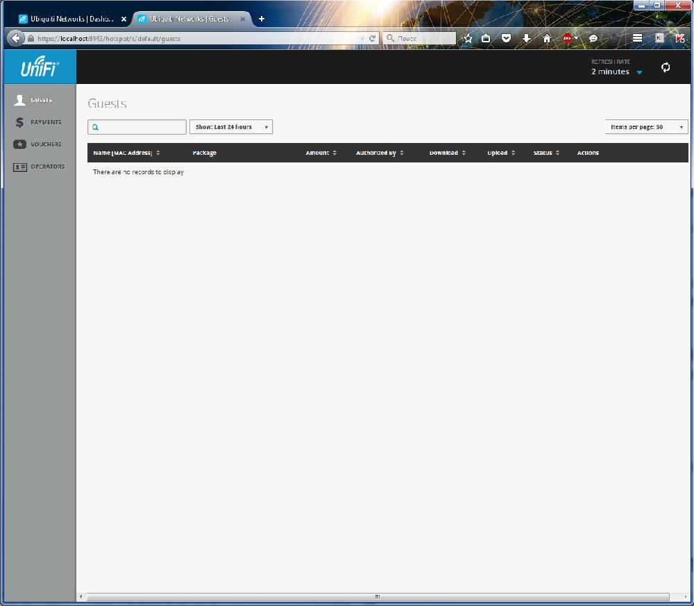 UniFi Controller подтверждение администрирования хотспота