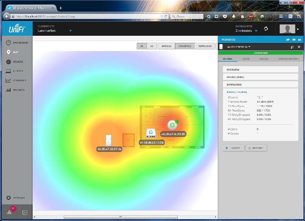 Настройка Wi-Fi HotSpot на точках доступа UniFi c программой