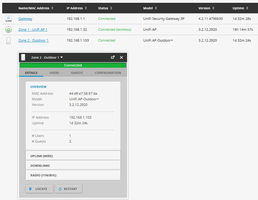 UniFi UAP-Outdoor+ конфигурация точки доступа