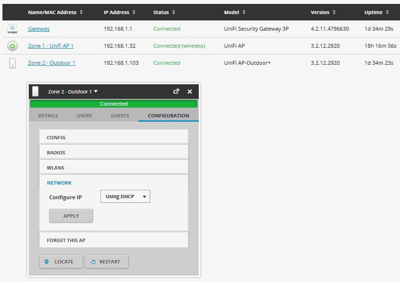 UniFi UAP-Outdoor+ список SSID
