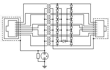 Принципиальная схема грозозащиты РГ5G