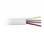Телефонный кабель 4 жильный (26 awg CCS, 100 m) белый, Atcom AT10121