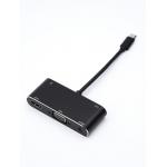 Переходник 0.1 m Type-C(m) - HDMI+VGA+USB, AT2810