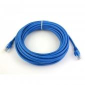 Патч-корд UTP, 0.5 m, литой, RJ45, Cat.5e, Atcom синий, AT4961