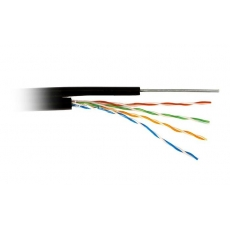 Витая пара FTP cat 5E (CCA, трос 1.2 mm, 0.5 mm, 305 m) экран, внешняя прокладка, Atcom АТ13706