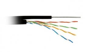 Витая пара FTP cat 5E (CCA, трос 1.2 mm, 0.5 mm, 305 m) экран, внешняя прокладка, Atcom AT13706
