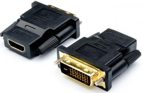 Переходник DVI(m)  HDMI(f) (24 pin, черный), AT1208