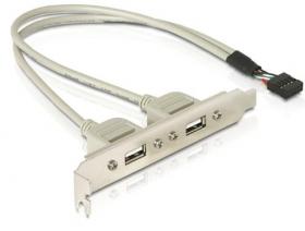 Планка расширения 2 порта USB 2.0 на  заднюю панель, AT5257, комплектующие