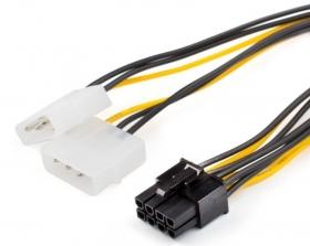 Кабель (Video power) 8 pin to 2 molex, AT8604