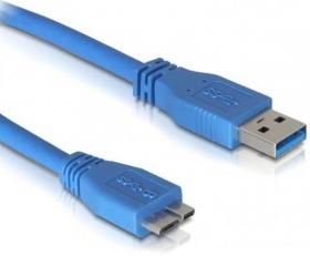 Кабель USB 0.8 m (USB 3.0, USB(Am) - microUSB, синий), AT2825