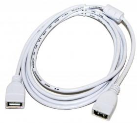 Кабель USB 1.8 m (Af  Af), белый, AT5647