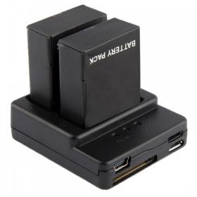 Зарядное устройство для двух аккумуляторов под камеры EKEN, BAT_CH_2