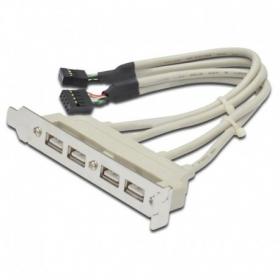 Планка расширения 4 порта USB 2.0 на  заднюю панель, AT5258